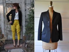 Equestrian Jacket Vintage Riding Apparel made in by LaDeaDeiSogni, $48.00