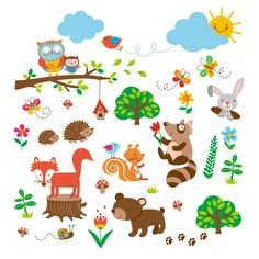 Into the Woods Baby/Nursery Decorative Wall Art Sticker Decals