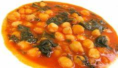 Potaje de garbanzos y espinacas (chorizo, morcilla, panceta)