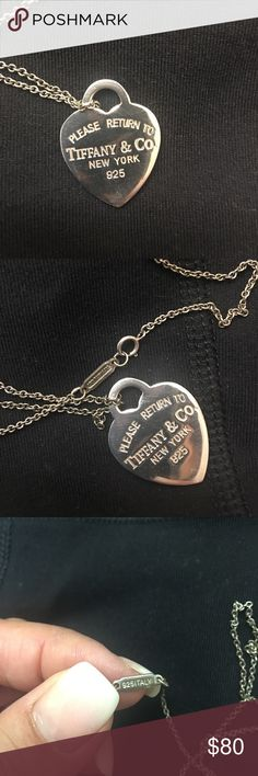 Tiffany necklace This is beautiful. I struggle to get the chain (Tiffany & Co.) to shine up. But the pendant is gorgeous. 💍❣️ Tiffany & Co. Jewelry Necklaces