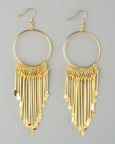 Viva Glam Fringe Earrings by Jules Smith at Neiman Marcus.