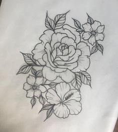Little floral one for tomorrow ☺ Vegan Tattoo, Tattoo Sketches, Tattoo Drawings, Rose Drawing Tattoo, Rose Drawings, Drawing Drawing, Edinburgh Tattoo, Body Art Tattoos, Sleeve Tattoos