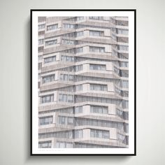 NLA Tower A2 Limited Edition of Hand Drawing - Shapes of Brutalism No. 1 Croydon, London