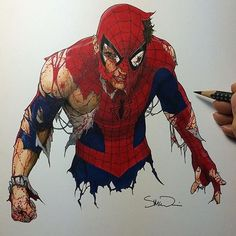 Amazing Spidey art by @mcnivenart