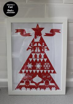 Scandinavian Christmas. Wall cut-out. by CutOutsMK on Etsy