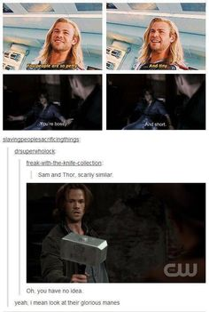 Sam Winchester and Thor