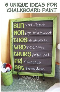 6 Unique Ideas For Chalkboard Paint | The Crafty Frugalista