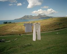 Photo © Martin Parr/Magnum Photos. GB. Scotland. Isle of Eigg. Isle of Rhum in the background. 1998
