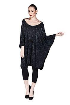 Women's 2016 Trendy Off Shoulder Long Sleeve Loose Tunic Dress with Bling Rhinestones (Black) LuckyBEBE http://www.amazon.com/dp/B01DRJLYZU/ref=cm_sw_r_pi_dp_Agjaxb1V6H2RD