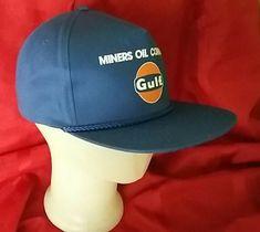 Miner s Oil Company GULF blue snapback Trucker Hat Cap Clothing  fashion   clothing  shoes 2fee37f37fc7