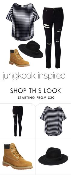 """JUNGKOOK INSPIRED"" by parisandromeda ❤ liked on Polyvore featuring Miss Selfridge, Timberland, Yves Saint Laurent, kpop, bts and jungkook"