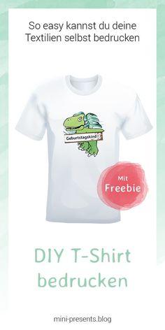 03955c6a18df Für den Kindergeburtstag ein cooles Dino T-shirt selbst bedrucken! Man kann  ganz einfach