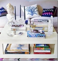 One surefire way to give a living room a little spice is by jazzing up the coffee table.