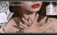 683d848e937 Nanika Spider Nails Collection Of Halloween Gifts Halloween Spider