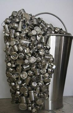 Artville Contemporary Artist of The Day Subodh Gupta Title: Spill Year: 2007 Medium: Stainless steel and stainless steel utensils Size: 170 x 145h x 95 cm