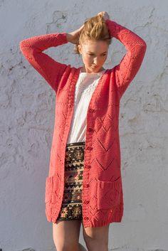 Novita Spring/Summer 2017, Cardigan made with Novita Aamu yarn #novitaknits #knitting #knits https://www.novitaknits.com/en