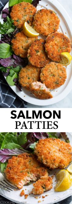 Salmon Patties Recipe {Salmon Cakes} Cooking Classy Salmon Patties – perfectly crisp on the outside and deliciously tender and flaky on the inside! Made with fresh salmon instead of canned and full of flavor. A hearty salmon dinner that's sure to impress! Canned Salmon Patties, Best Salmon Patties, Salmon Patties Recipe, Salmon Patty Recipe With Fresh Salmon, Fried Salmon Patties, Fish Patties, Fish Recipes, Seafood Recipes, Cooking Recipes