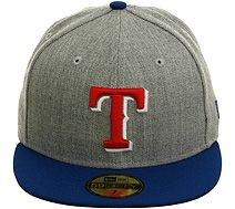 707c8dc2c19 New Era 2Tone Texas Rangers Fitted Hat - Heather Gray