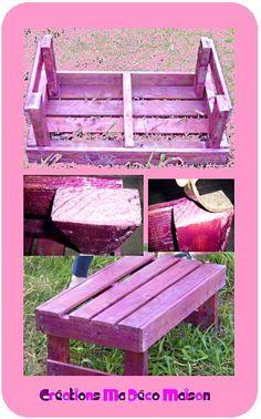 Palet reciclado, en rosa