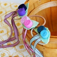 ribbons and roses hair ties