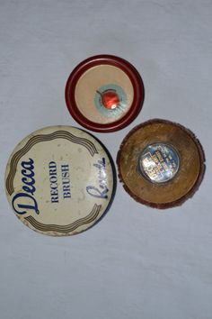Lot of 3 Antique Record Cleaner Dusters Permo Decca G. Schirmer Los Angeles - free Shipping