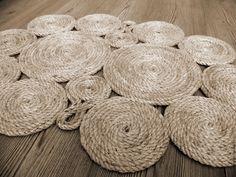 Купить Коврик придверный - бежевый, коврик, коврик ручной работы, коврик на пол, джут