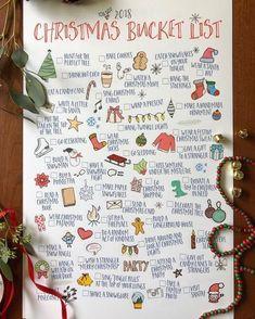 merry christmas 2018 Christmas Bucket L - Christmas Mood, Merry Little Christmas, All Things Christmas, Holiday Fun, Christmas Crafts, Christmas Decorations, Christmas List Ideas, Christmas Checklist, Christmas Traditions Kids