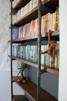 industrial vintage wooden shelves by inspirit | notonthehighstreet.com