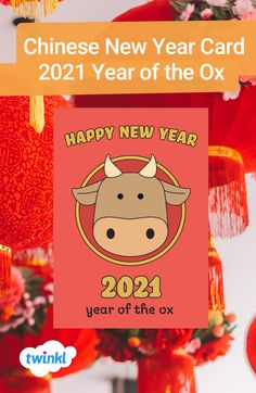 Celebrate Chinese New Year and send best wishes to your family and friends with this funky cartoon card! Click to download and find more Chinese New Year teaching resources and activities over on the Twinkl website. #chinesenewyear #chinesenewyearcard #yearoftheox #teachingresources #teachingideas #twinkl #twinklresources #greetingscard #parents #homeschooling Chinese New Year Card, Ox, Cute Cartoon, Teaching Resources, Happy New Year, Homeschooling, Parents, Greeting Cards, Activities