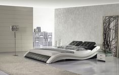 designer modern real genuine leather bed / soft bed/double bed king/queen size bedroom home furniture hot sale American style. Modern Bedroom Furniture, Modern Bedroom Design, Contemporary Bedroom, Home Furniture, Bedroom Themes, Bedroom Decor, Bed Cover Sets, Camas King, Wood Bed Design
