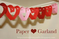 Paper heart garland (tutorial). Easy and fast Valentine's decor.