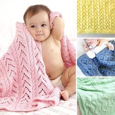 10 Easy Knit Baby Blankets for Beginners — Blog.NobleKnits Easy Knit Baby Blanket, Chevron Baby Blankets, Knitted Baby Blankets, Knitting Blogs, Easy Knitting, Knitting Projects, Knitting Socks, Baby Hat Knitting Pattern, Knitting Patterns Free