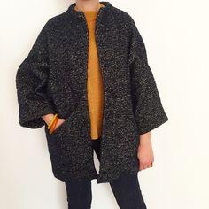 Papercut Patterns Sapporo Coat Coat Pattern Sewing, Coat Patterns, Sewing Patterns, Sewing Projects, Sewing Ideas, Wool Coat, Paper Cutting, Envy, Kimono Top