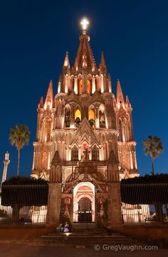 La Parroquia, Church of St. Michael the Archangel, San Miguel de Allende, Guanajuato, Mexico.