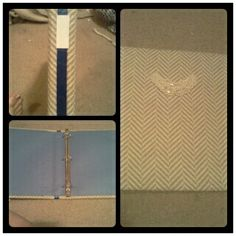 The fabric covered binder I made!