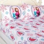 "Disney Frozen Anna and Elsa ""Snowflake"" Sheet Set, Full"
