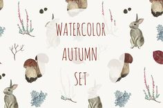 Watercolor autumn set by Alina Demchenko on @creativemarket
