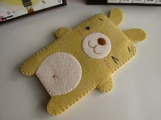Bunny iPhone / Cell Phone Case (Custom Size Available)-Yellowby FeltLLang $18.99