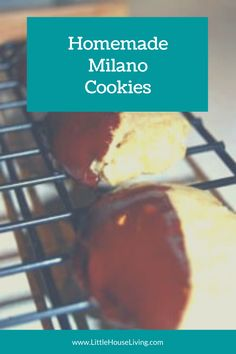 Milano Cookie Recipe, Milano Cookies, Candy Cookies, Bar Cookies, Homemade Desserts, Easy Desserts, Sweets Recipes, Cookie Recipes, Biscuit Pudding