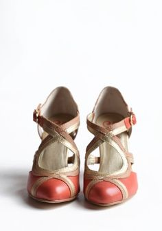 Petunia Heels. A modern take on a vintage shoe. So cute
