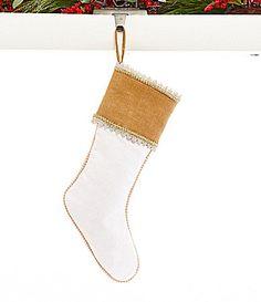 Dillards Trimmings Shellebrate 21 Burlap Cuff and Linen Stocking #Dillards