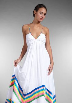 From The Bachelor last night... think this is SO cute. Thanks to @Dana Curtis Weiss for finding it! // Foley + Corinna Long Rainbow Dress in White