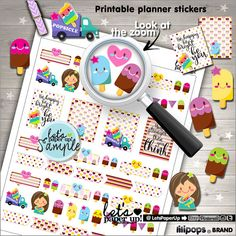 ★New listing! Popsicle printable stickers - Summer stickers - Planner stickers - Kawaii stickers