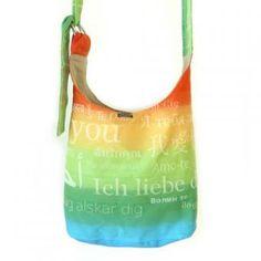 Schultertasche mit Ringen Regenbogen Love, Shoulder Bag with ring Rainbow Love Baby Rucksack, Rainbow, Backpacks, Shoulder Bag, Bra, Ring, Bags, Rain Bow, Rainbows