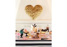 Gold Sequin Heart Installation | DIY Projects | 100 Layer Cake