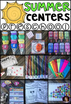 Are you looking for fun and simple thematic centers that you can prep quickly for your preschool classroom? Preschool Summer Centers was created for children ages 4-6 and mature 3 year-olds (looking for a challenge). These centers are sure to keep their interest and will help build important literacy, math and writing (fine-motor) skills. This unit is also great review and practice for children leaving preschool and heading to kindergarten. There are a lot of opportunities to practice ext...