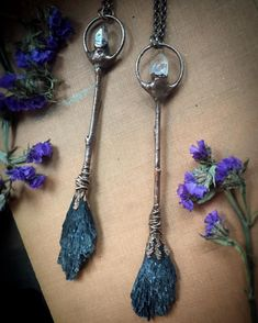 """55 Likes, 9 Comments - << Ηeather Miranda >> (@hmhstudio) on Instagram: """"Just listed these two Witchy Woman Necklaces/Wands!! These unique necklace is copper electroformed…"""""""