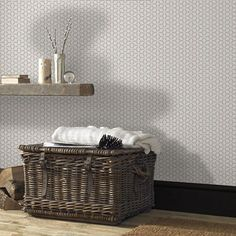 Taupe Helice Geometric Wallpaper
