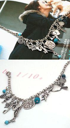 [바보사랑] 빈티지한 참장식이 예쁜 팔찌 /팔찌/빈티지/참장식/터키석/주얼리/패션주얼리/악세서리/체인/Bracelet/vintage/charm/Jewelry/turquoise/Fashion Jewelry/Accessories/Chain