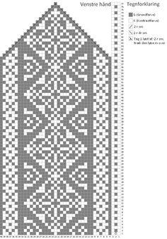 Crochet Mittens Free Pattern, Jumper Knitting Pattern, Loom Knitting Patterns, Knit Mittens, Knitting Charts, Weaving Patterns, Knitting Stitches, Knitting Socks, Cross Stitch Patterns